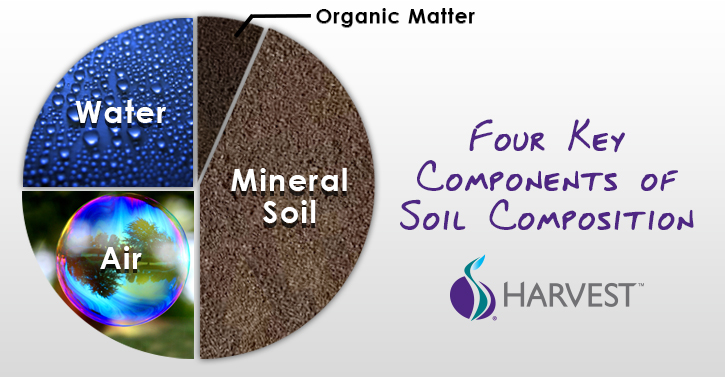 What are the mail components of soil?